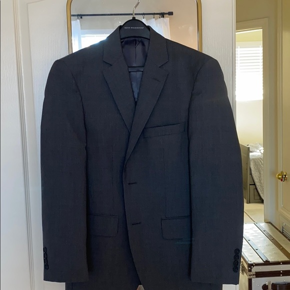Suits Blazers Gray Mens Wearhouse Suit Poshmark